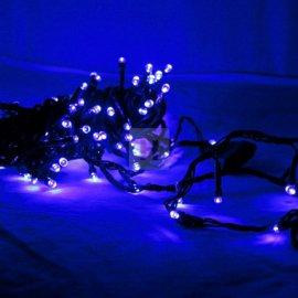 Lampki choinkowe 100 LED Niebieskie stałe