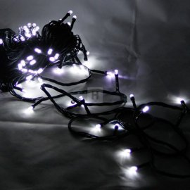 Lampki choinkowe 200 LED Białe zimna biel