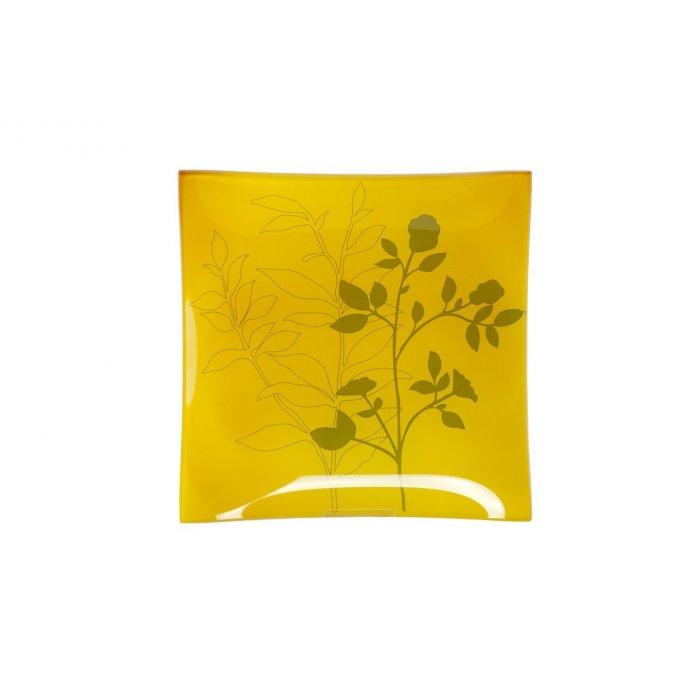 Podstawka szklana żółta 19431
