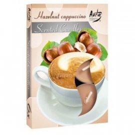 Podgrzewacz zapachowy Cappuccino orzechowe Tealight 6szt Bispol