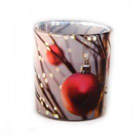 Świeca zapachowa w szkle Świąteczna Wiśnia Bolsius