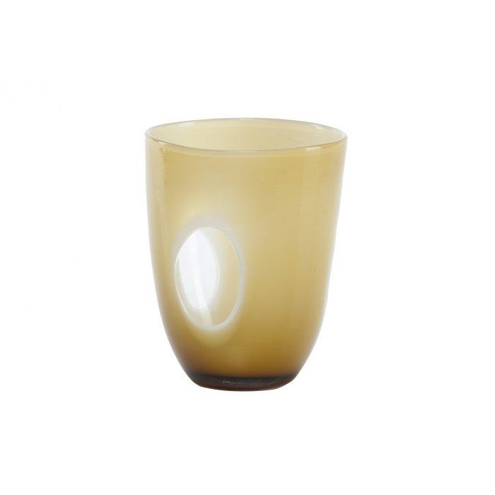 Wazon szklany kremowy Kerio 19728