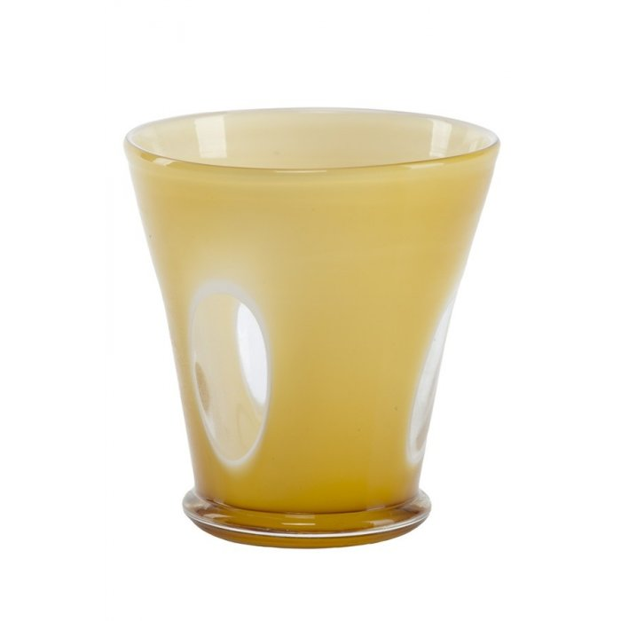Wazon szklany kremowy Kerio 19732