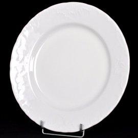 Talerz płytki biały 25cm Rococo Ćmielów I gat