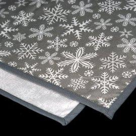 Bieżnik świąteczny szary z białymi płatkami śniegu 0,3 x 1,5m