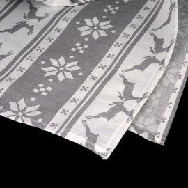 Bieżnik świąteczny szary w renifery 52 x 200 cm bawełna