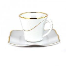 Filiżanka i spodek Espresso 10/12 Moving 4237a Lubiana złoty pasek