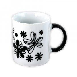 Kubek Rita 300 czarne Kwiaty Glasmark