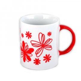 Kubek Rita 300 czerwone Kwiaty Glasmark