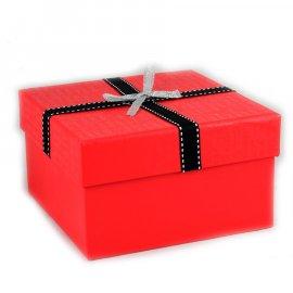 Pudełko Czerwone Love 13x13x8 cm