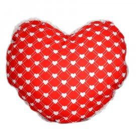 Poduszka serce z pomponikami WALENTYNKI