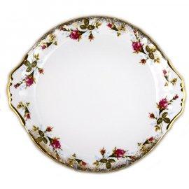 Taca talerz do ciasta 24 z różą 013 Ćmielów i Chodzież