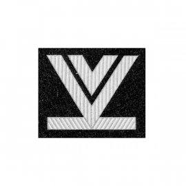 Oznaka WP Starszy Sierżant Sztabowy czarny dystynkcja