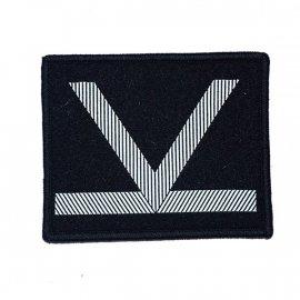 Oznaka WP Sierżant Sztabowy czarny dystynkcja na rzep