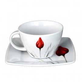 Filiżanka ze spodkiem 220/14,5 Victoria 3830 tulipan Lubiana