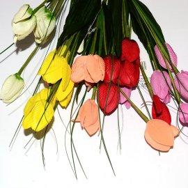 Gałązka bukiet tulipany 44cm Wielkanoc