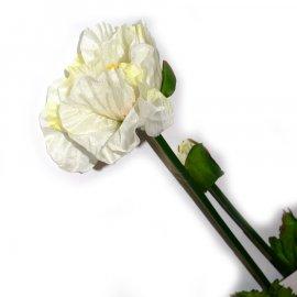 Gałązka biały mak 77cm Wielkanoc