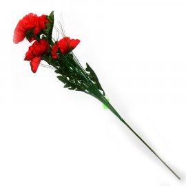 Gałązka czerwone maki  55cm Wielkanoc