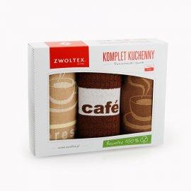 Kpl. ścierek kuchennych w pudełku CAFE BRĄZ Zwoltex