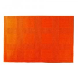 Mata stołowa Velvet PVC/PS 30 x 45 cm Orange AMBITION