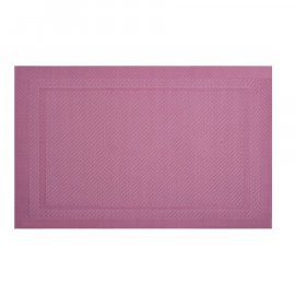 Mata stołowa Velvet PVC/PS 45 x 30 cm różowa AMBITION