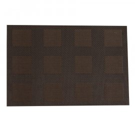 Mata stołowa Velvet PVC/PS 45 x 30 cm brązowa AMBITION