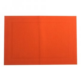 Mata stołowa Velvet PVC/PS Orange 30 x 45 cm AMBITION