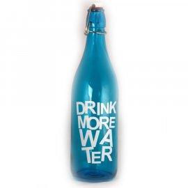Butelka 1L niebieska z zamknięciem pałągowym Pasabahce