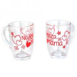 Kubek szklany Ala dla Mamy 300 ml Najlepsza Mama