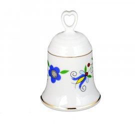 Dzwonek porcelanowy 3140 kaszubski wzór Lubiana folk