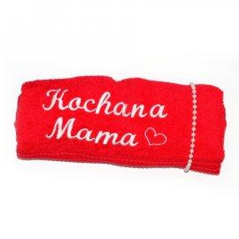 Ręcznik czerwony z dedykacją Kochana Mama 50x90