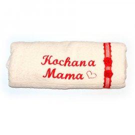 Ręcznik ecru z dedykacją Kochana Mama 70x140