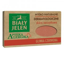 Mydło Dermatologiczne Apteka Alergika Z Glinka Czerwona 125g Biały Jeleń
