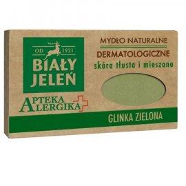 Mydło Dermatologiczne Apteka Alergika Z Glinka Zielona 125g Biały Jeleń