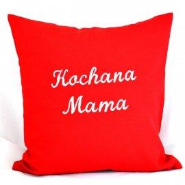 Poszewka Czerwona Kochana Mama 40x40