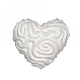 Serce ze wzorem gipsowa figurka 6 cm