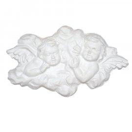 Dwa Aniołki gipsowa figurka 24 cm