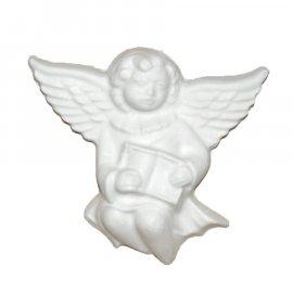 Aniołek z książką gipsowa figurka 9 cm