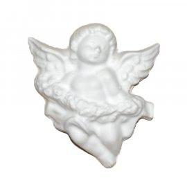 Aniołek z kwiatami gipsowa figurka 7,5 cm