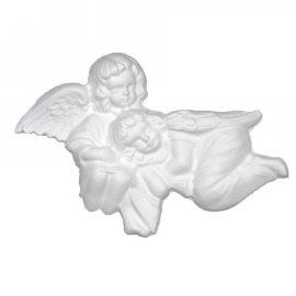 Dwa aniołki gipsowa figurka 20,5 cm