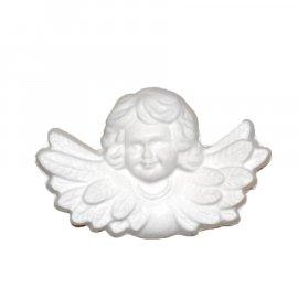 Aniołek ze skrzydłami gipsowa figurka 8 cm