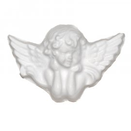 Aniołek skrzydlaty gipsowa figurka 6,5 cm