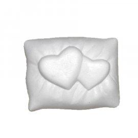 Dwa serca na poduszce gipsowa figurka 5,5 cm Miłość