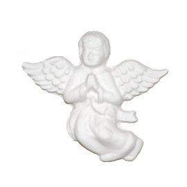 Aniołek ze skrzydłami modlący gipsowa figurka 9 cm