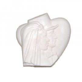 Młoda Para na sercu gipsowa figurka 7 cm Miłość