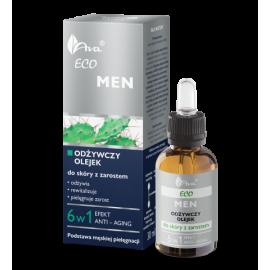 Odżywczy olejek do skóry z zarostem Eco Men Ava