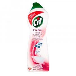 Cif Cream Mleczko do czyszczenia z mikrokryształkami Pink Flowers 780
