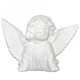 Aniołek ze skrzydłami gipsowa figurka 12 cm