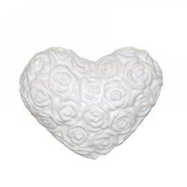 Serce z róż gipsowa figurka 6,5 cm
