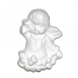 Aniołek śpiący gipsowa figurka 6 cm